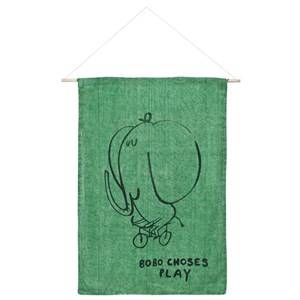 Bobo Choses Unisex Home accessories Green The Cyclist Wall Banner Mint