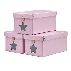 Kids Concept Unisex Storage Pink Pink Shoe/Toy Boxes 3-Pieces