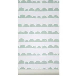 ferm LIVING Unisex Home accessories Green Half Moon Wallpaper - Mint