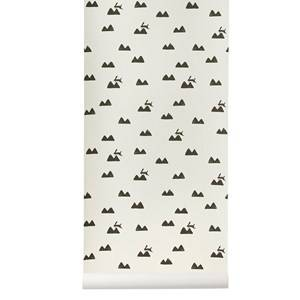 ferm LIVING Unisex Home accessories White Rabbit Wallpaper - Off-White