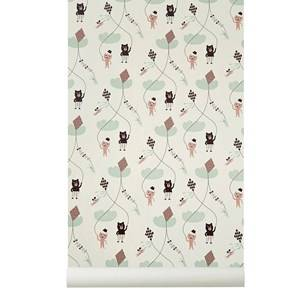ferm LIVING Unisex Home accessories Pink Kite Wallpaper - Rose