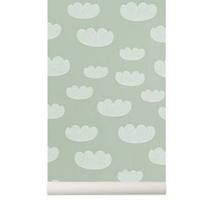ferm LIVING Unisex Home accessories Green Cloud Wallpaper - Mint