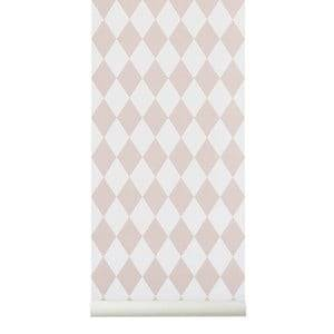 ferm LIVING Unisex Home accessories Pink Harlequin Wallpaper - Rose