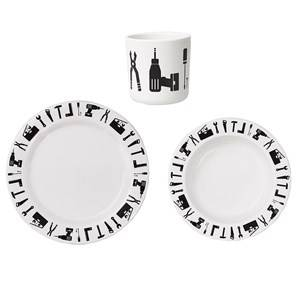 Design Letters Unisex Norway Assort Tableware White Tool School Melamine Set White