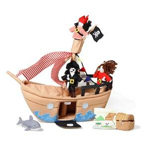 oskar&ellen; Unisex Role play Brown The Jolly Roger Pirate Ship