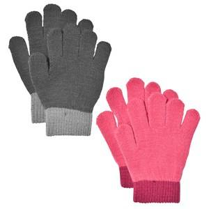 Lindberg Girls Gloves and mittens Multi Lanna Magic Gloves Black And Cerise