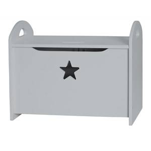 Kids Concept Unisex Storage Grey Star - Grey Wooden Storage/Toy Chest