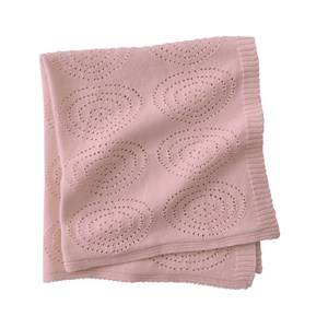 Kids Concept Girls Textile Pink Knitted Blanket