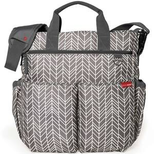 Skip Hop Unisex Bags Grey Duo Signature Diaper Bag Grey Feathers