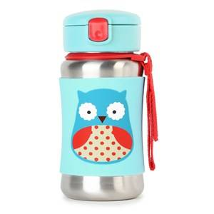 Skip Hop Unisex Flasks and water bottles Blue Zoo Stainless Steel Straw Bottle Owl
