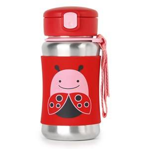 Skip Hop Unisex Flasks and water bottles Red Zoo Stainless Steel Straw Bottle Ladybug