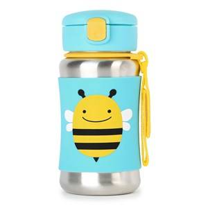 Skip Hop Unisex Flasks and water bottles Yellow Zoo Stainless Steel Straw Bottle Bee