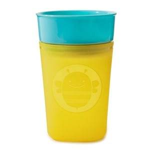 Skip Hop Unisex Baby feeding Yellow Zoo Turn & Learn Training Cup Bee