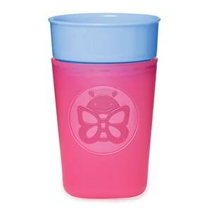 Skip Hop Unisex Baby feeding Pink Zoo Turn & Learn Training Cup Butterfly