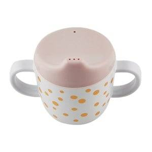 Done by Deer Girls Norway Assort Tableware Pink 2-Handle Spout Cup Happy Dots Gold/Powder