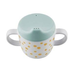 Done by Deer Boys Norway Assort Tableware Blue 2-Handle Spout Cup Happy Dots Gold/Blue