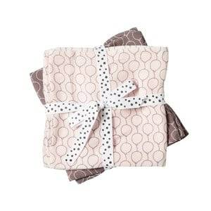 Done by Deer Girls Textile Pink Balloon Swaddle 2-Pack Powder