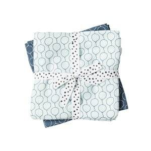 Done by Deer Boys Textile Blue Balloon Swaddle 2-Pack Blue