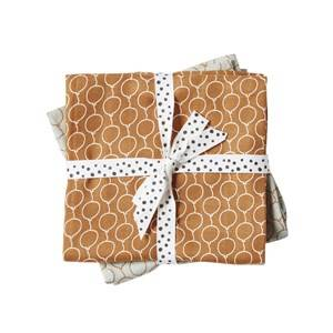 Done by Deer Unisex Textile Gold Balloon Swaddle 2-Pack Golden