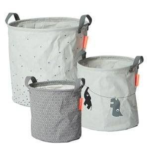 Done by Deer Unisex Norway Assort Storage Grey 3 Piece Soft Storage Baskets Grey