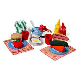 oskar&ellen; Unisex Role play Orange Cooking Set