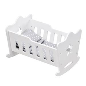 Kids Concept Unisex Dolls and doll houses White Doll Cradle