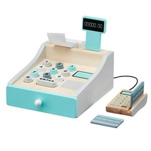 Kids Concept Unisex Role play White Wooden Toy Cash Register