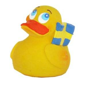 Lanco Unisex Water toys Swedish Duck Natural Rubber Toy