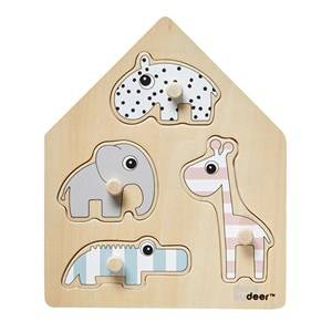 Done by Deer Unisex Puzzles and games Multi Peg Puzzle Deer Friends