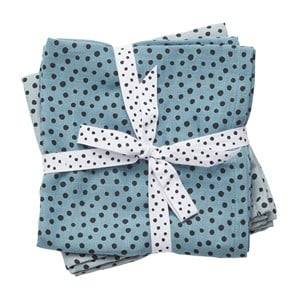 Done by Deer Boys Norway Assort Textile Blue Swaddle 2-Pack Happy Dots Blue