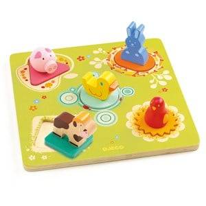 Djeco Unisex Puzzles and games Yellow Duck & Friends Puzzle