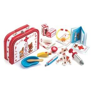 Djeco Unisex Puzzles and games White Veterinary Kit