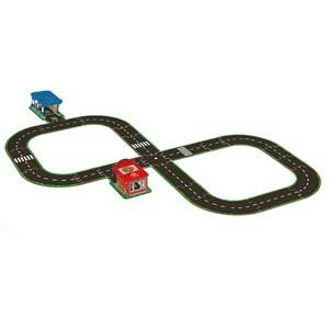 Djeco Unisex Puzzles and games Grey Hit The Road Pop To Play Road Circuit