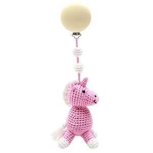 natureZOO Unisex Stroller accessories Pink Stroller Toy Miss Unicorn Light Pink