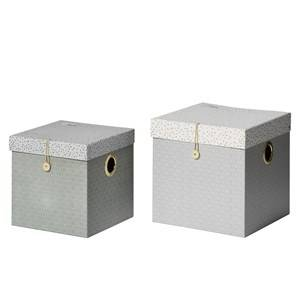 Done by Deer Unisex Norway Assort Storage Grey Large Square Box Set 2 Pieces Grey
