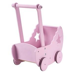 Kids Concept Unisex Dolls and doll houses White Star Doll Pram With Bed Pink