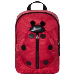 Dolce & Gabbana Girls Bags Red Red Ladybird Leather and Nylon Backpack