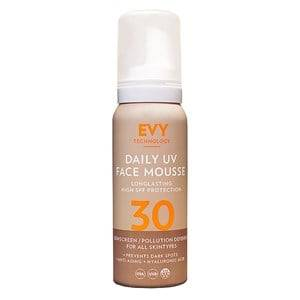 EVY Technology Unisex Camping equipment Brown SPF 30 Anti-Age UV Face Mousse – 75 ml