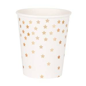My Little Day Unisex Tableware Gold 8 Paper Cups - Falling Gold Stars