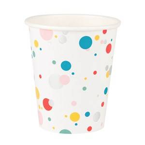 My Little Day Unisex Tableware Multi 8 Paper Cups - Multicolored Bubbles