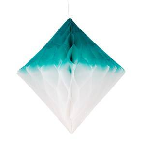 My Little Day Unisex Tableware Green Honeycomb Paper Diamond - Teal & White