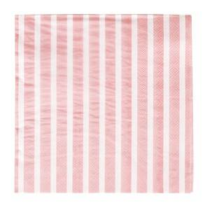 My Little Day Unisex Tableware Pink 20 Paper Napkins - Light Pink Stripes