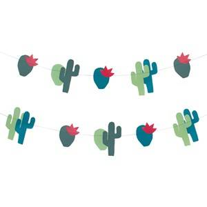 My Little Day Unisex Tableware Multi Theme Paper Garland - Cactus