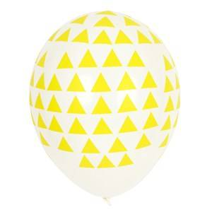 My Little Day Unisex Tableware Yellow 5 Printed Balloons - Yellow Triangles
