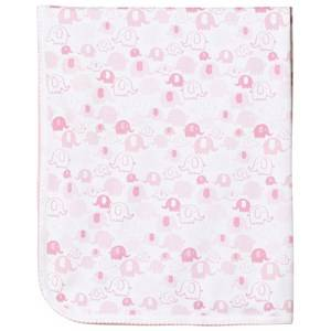 Kissy Kissy Girls Textile Blue Pink Elephant Print Blanket