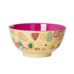 Rice Unisex Norway Assort Tableware Yellow Melamine Bowl Fruit Print