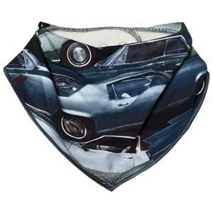 Molo Unisex Baby feeding Blue Nick Bib Stacked Cars