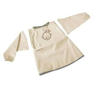SootheTime Unisex Baby Gear Baby feeding Beige Bib w. Sleeves Taupe