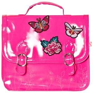 Billieblush Girls Bags Pink Butterfly Applique Patent Satchel Hot Pink