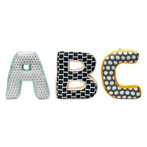Kids Concept Boys Textile Green ABC Cushions Neo Green/Multi